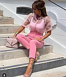 Женские стильные брюки-бананы с высокой посадкой (в расцветках), фото 4