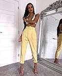 Женские стильные брюки-бананы с высокой посадкой (в расцветках), фото 7