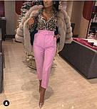 Женские стильные брюки-бананы с высокой посадкой (в расцветках), фото 5