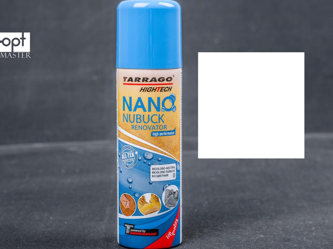 Аэрозоль краска бесцветная для замши Tarrago Nano Nubuck Renovator, 200 мл, TGS19 (00)