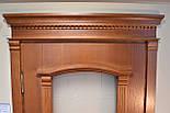 Межкомнатные двери со стеклом и контурным витражом, фото 2