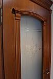 Міжкімнатні двері зі склом і контурним вітражем, фото 3