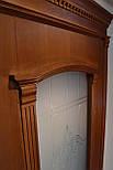 Міжкімнатні двері зі склом і контурним вітражем, фото 4