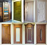Міжкімнатні двері зі склом і контурним вітражем, фото 6