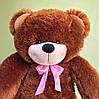 Большой плюшевый медведь Фокси, 130 см, коричневый, фото 4