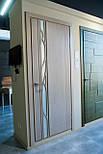 Глухие белые межкомнатные двери с зеркалом, фото 2