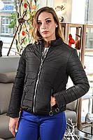 Женская куртка (черная), (весна-осень), фото 1