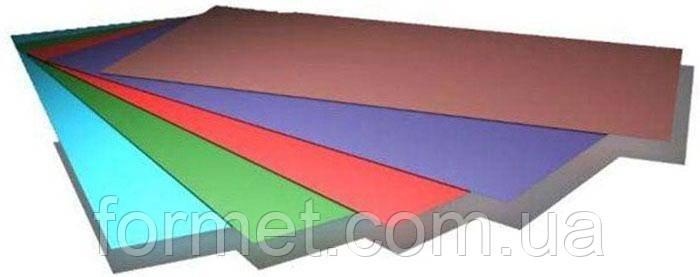 Лист гладкий 0,45*1250 (0,2м - 15м) полимер (матовый) Китай, фото 2