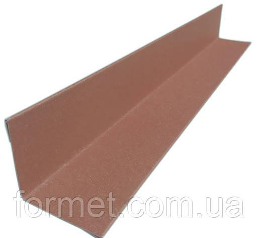 Кут внутрішній 59*59*2000 полімер (коричневий) Китай, фото 2