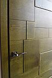 Межкомнатные двери в лофт стиле с вставками из дуба, фото 4