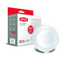 Светодиодный умный точечный светильник MAXUS 12Вт Круг