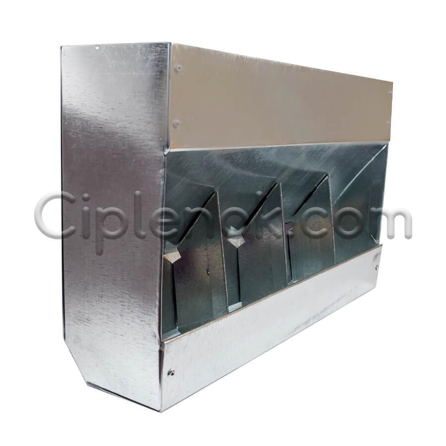 Бункерная кормушка для кроликов 4 отд. метал.