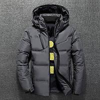 Мужская зимняя куртка пуховик JEEP в наличии! (BRG_03), графит / РАЗМЕР 46, 50