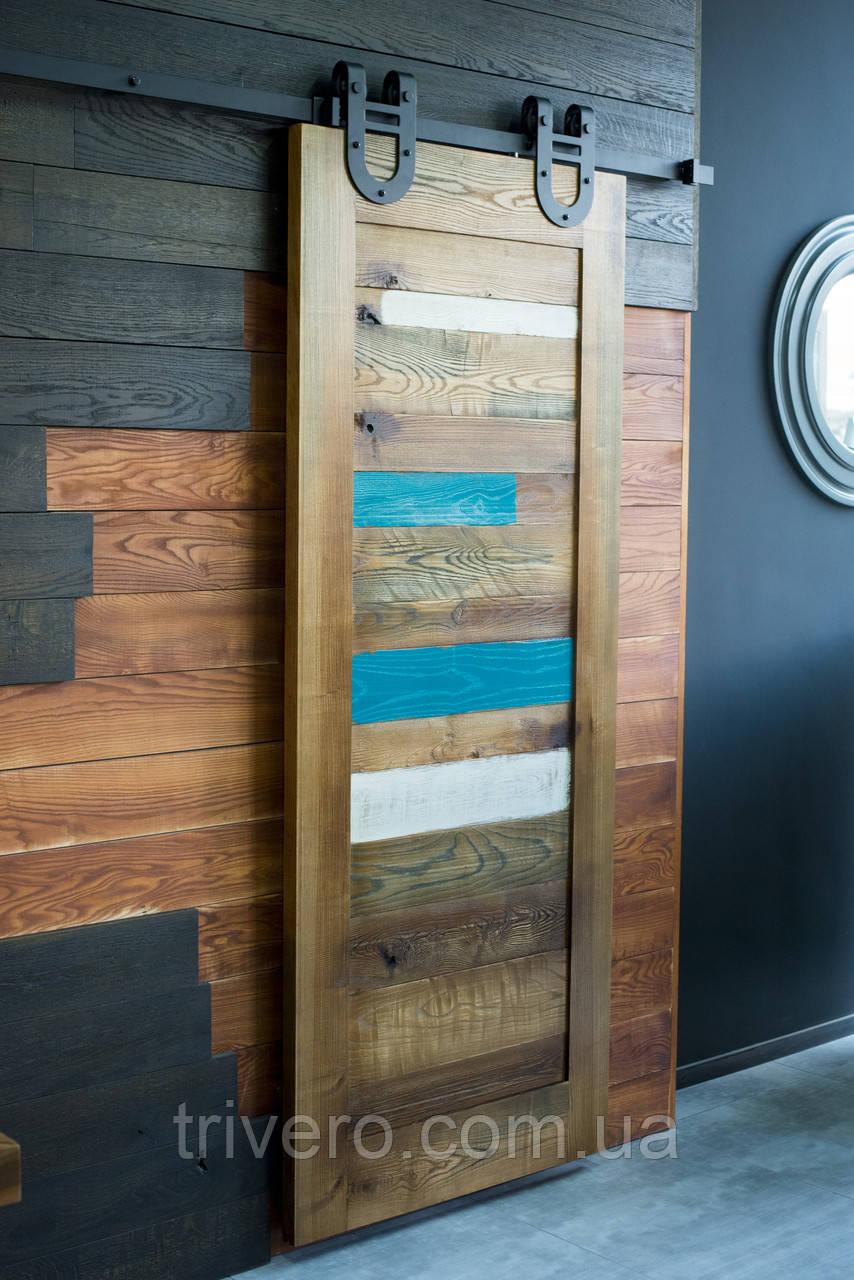 Амбарные двери в стиле лофт на раздвижной системе