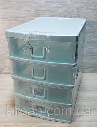 Пластиковый мини комод,органайзер на 4 ящика, фото 2