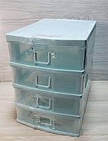 Пластиковый мини комод,органайзер на 4 ящика
