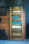 Амбарные двери в стиле лофт на раздвижной системе, фото 3