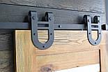 Амбарные двери в стиле лофт на раздвижной системе, фото 5