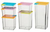 Набор контейнеров для сыпучих продуктов 6 шт., Набір контейнерів для сипучих продуктів 6 шт., Банки и емкости, Банки і ємності