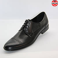 Чоловічі туфлі TAPI (Польща) чорного кольору. Красиві та ідеально підходять під костюм. Стиль: Джеймс Бонд
