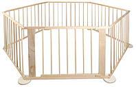 Манеж дитячий дерев'яний , клітка, 6 частин деревянный, клетка, манеж детский