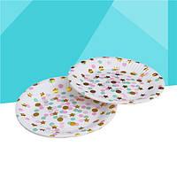 Тарелки бумажные для праздника 18.5 см (уп.-10шт)