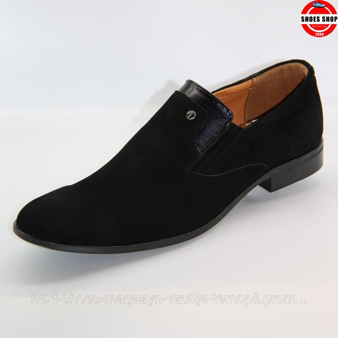 Чоловічі туфлі TAPI (Польща) чорного кольору. Стильні та ідеально підходять під костюм. Стиль - Джеймс Бонд