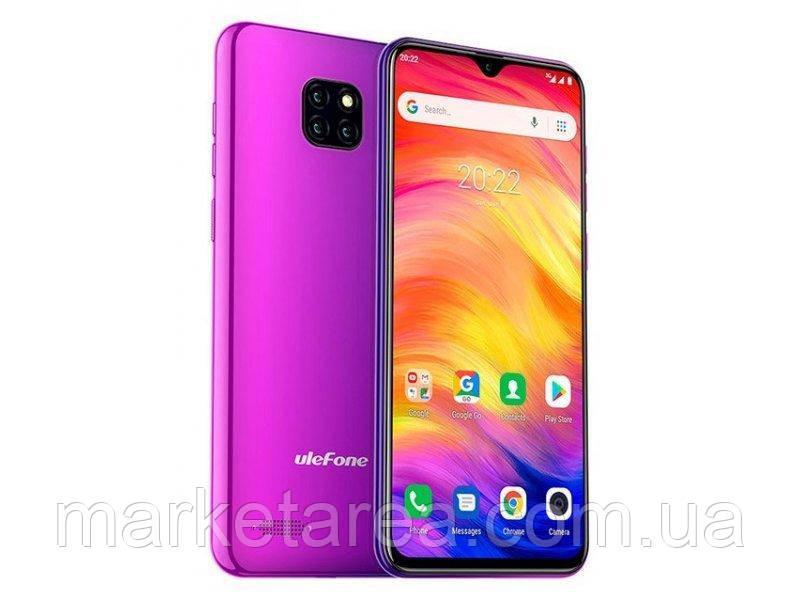 Смартфон разноцветный с большим дисплеем и тремя камерами на 2 сим карты Ulefone Note 7P twilight 3/32 гб
