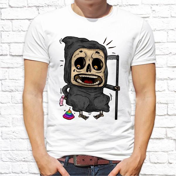 Мужская футболка с принтом Cмерть с косой Push IT