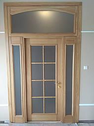 Классически двери арочные из массива дуба