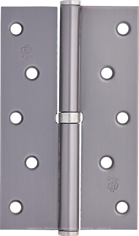 Завіса врізна 100 мм Права  графіт/хром