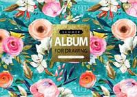 """Альбом для рисования А4 30л/100 """"Flower pattern"""" на спирали мат.лам+глит+фол зол YES"""