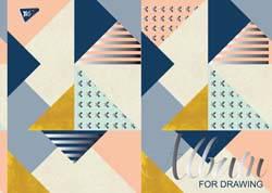 """Альбом для рисования А4 30л/100 """"Abstract"""" на спирали мат.лам+УФ-выб+фол сер YES"""