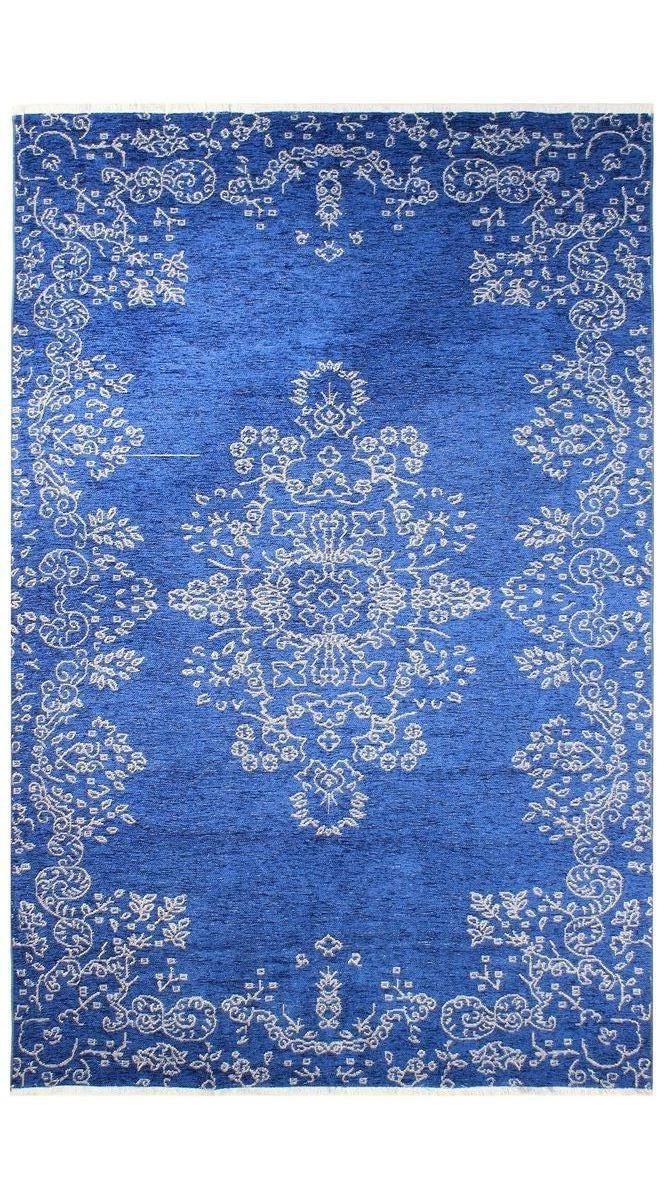 Ковер My Home Moretti Side двусторонний синий с белым