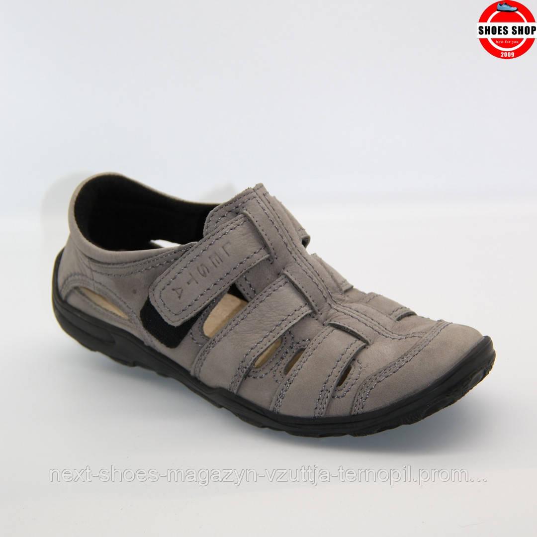 Чоловічі сандалі Lesta (Польща) сірого кольору. Зручні та красиві. Стиль - Девід Бекхем