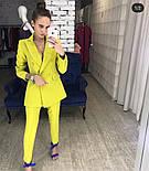 Женский стильный брючный костюм-двойка: приталенный пиджаки брюки-дудочки (в расцветках), фото 8