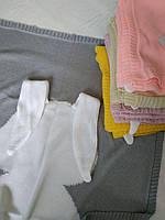 Вязаный детский плед/одеяло зайка, единорог, лиса, фламинго на выписку