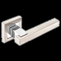 Дверні ручки MVM Loft Z-1290 SN/CP матовий нікель/ полірований хром