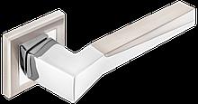 Дверні ручки MVM Neo Z-1319 SN/CP  матовий нікель/ полірований хром