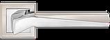 Дверні ручки MVM Neo Z-1319 SN/CP  матовий нікель/ полірований хром, фото 2