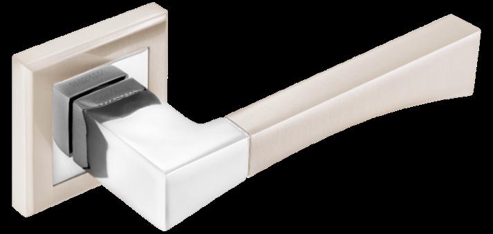 Дверні ручки MVM Tia Z-1257 SN/CP  матовий нікель/хром