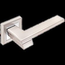 Дверні ручки MVM City Z-1324 SN/CP  матовий нікель/хром
