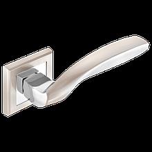 Дверні ручки MVM Teza Z-1325 SN/CP матовий нікель/хром