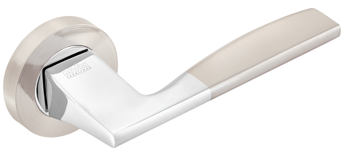 Ручка MVM Z-1220 SN/CP матовий нікель/хром