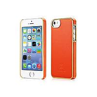 Чехол Xoomz для iPhone 5/5S/5SE Luxury Electroplating Orange (back cover) (XIP505Or)