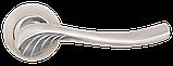 Дверні ручки MVM A-2013 SN/CP матовий нікель/ хром, фото 2