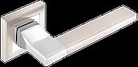 Дверні ручки MVM Qoob A-2008 SN/CP матовий нікель/хром