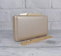 Вечерний клатч Rose Heart 7888 цвет шампанского, сумочка на цепочке, фото 1