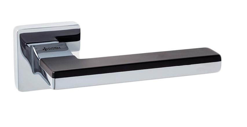 Дверні ручки System Larissa CR-CR/AL6 (хром/ чорний)