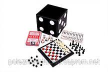 Набор 5 игр: карты,шахматы,шашки,домино,кости